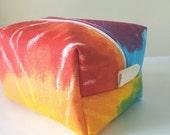 BACK 2 SCHOOL SALE Tie Dye Makeup Bag - Modern Cosmetic Bag - Large Makeup Bag - Waterproof Makeup Bag - Bridesmaid Gifts