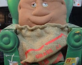 VINTAGE Coleco 1987 COUCH POTATO with burlap sack soft stuffed couch buddy