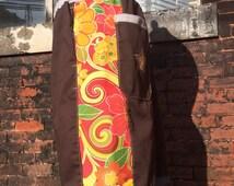 mens patchwork Dude Shorts dark brown orange paisley floral hippie patchwork READY TO SHIP six pocket 30 32 34 36 38 40