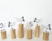 Wire chicken - chicken ornament - wire bird - bird sculpture - small sculpture - small home decoration - small art - mini sculpture