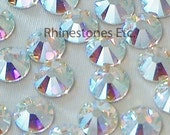 Crystal AB 34ss Swarovski Elements Rhinestones Flat back 10 pieces