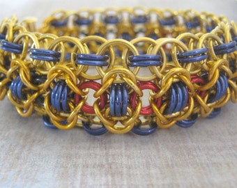 Bracelet Dreaming Down The Nile Chain Maille Aluminum Bangle