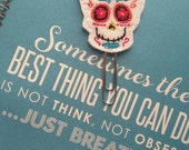 Planner Paper Clip Day of the dead skull head