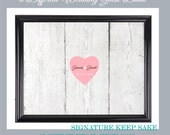 Wedding guestbook rustic wood made to order custom size and colors