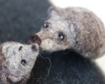 PDF instructions - needle felt tutorial - hedgehog and mouse