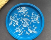 Vintage bird tray/metal plate