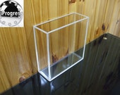 Square Perspex Open Lidless Box for Display, Show or Storage - Different sizes