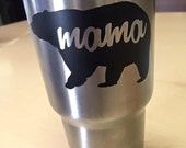 Custom Mama Bear Vinyl Decal - FREE SHIPPING
