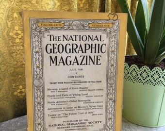 July 1930, Vintage Magazine, National Geographic, Vintage Photography, Vintage Photos