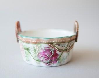Antique Porcelain Trinket Basket