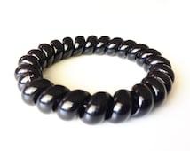 No Crease Hair Tie, Creaseless Hair Ties, Hair Tie Bracelet, Hair Tie Bracelet Cuff, Set of 3 Spiral Hair Ties