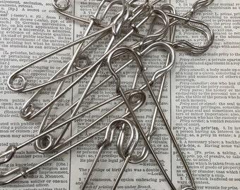 Blanket Pin - horse pin - kilt pin - large safety pin - silver pin- safetypin - horse blanket pin - large safety pin - safety pin