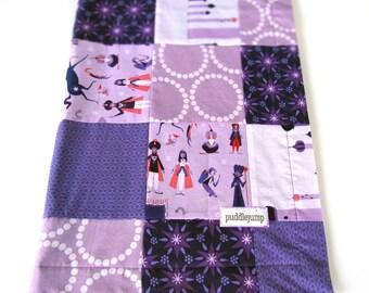 SALE! 1001 Peeps Baby Blanket || Arabian Baby Blanket || Purple Minky Baby Blanket || Modern Patchwork Blanket