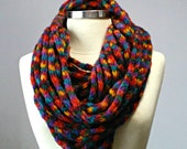 Striped, infinity scarf, chunky scarf, Cowl scarf, winter accessories, tube knit scarf, circle scarf, cowl scarf, chunky scarves, knit scarf