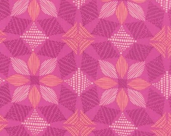 Canyon by Kate Spain for Moda - Geometric - Basket - Pink - Amethyst - FQ - Fat Quarter Cotton Quilt Fabric 516