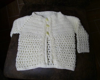 yellow knit baby cardigan