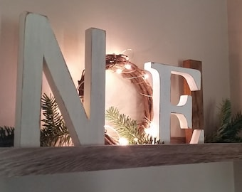 noel letters christmas decor mantle decor christmas gift noel sign with lights
