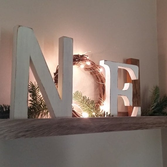 Noel Letters, Christmas Decor, Mantle Decor, Christmas Gift,  Noel Sign With LIGHTS