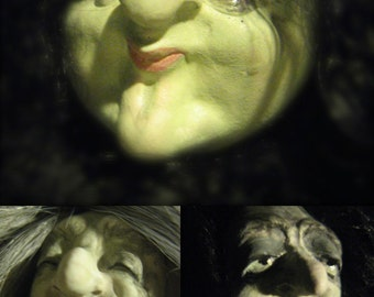 YOUR CHOICE - FG Flexible Push Press Silicone Molds of Doll Face Cab Castings - Witches, Hags by M. Patrick Arts & Crafts