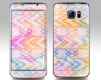 AZTEC WATERCOLOR Galaxy Decal Galaxy Skin Galaxy Cover Galaxy S6 Skin, Galaxy S6 Edge Decal Galaxy Note Skin Galaxy Note Decal Cover