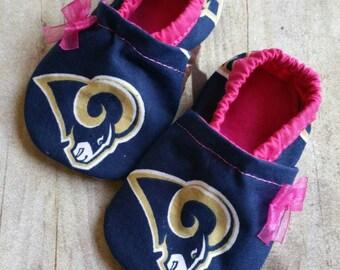St Louis Rams Pink booties (shirt seperate)