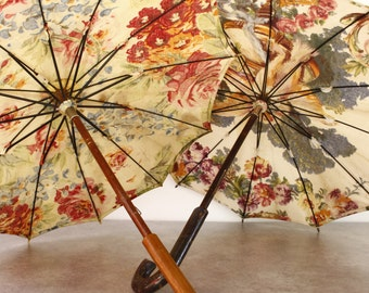 Vintage French Floral Parasol...Listing is for ONE Parasol......Wedding Decor....Wedding Accessory....Shabby Chic