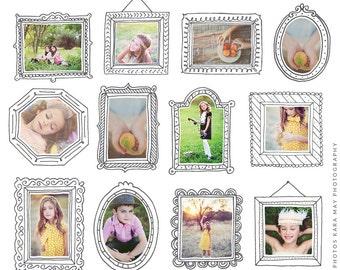 INSTANT DOWNLOAD - Photoshop Photo frames - Magical frames CBD004
