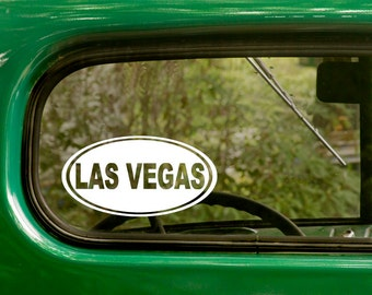 Las vegas Decal, Las Vegas Sticker, Nevada Decal, Car Decal, Laptop Sticker, Oval Sticker, Bumper, Vinyl Decal, Car Sticker