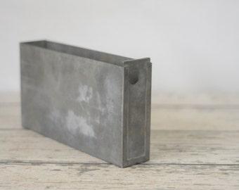 Vintage Zinc Galvanized Metal Bin Vintage Metal Box Industrial Metal Decor
