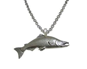 Sockeye Salmon Fish Pendant Necklace