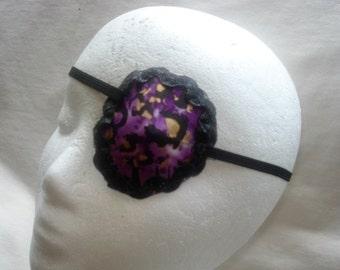 Woman's convex eye patch, handmade, convex shape, vision accessory, eye care, Indian batik print, art eye wear, one of a kind,