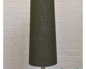 Vintage 60s 70s Style Green Hessian Conical Lampshade Fat Lava