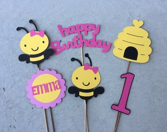 Girl Bee 6 Piece Centerpiece Mommy To Birthday Bumble