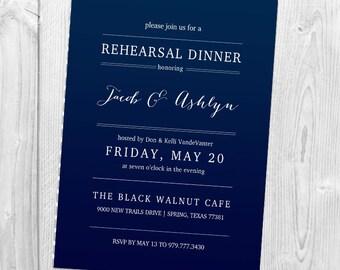 Classy Rehearsal Dinner Invitation