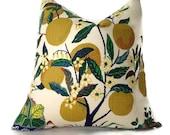 Schumacher Citrus Garden Pillow, Decorative Throw Pillow Cover, Toss Pillow, Accent Pillow