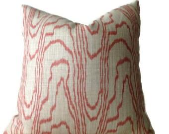 Lee Jofa Groundworks Agate Salmon  Pillow Cover,Designer Pillow Covers, Pillows, Decorative Throw Pillow, Home Decor Pillow