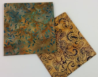 Beautiful Batik Cotton 2 PC Fat Quarter Set