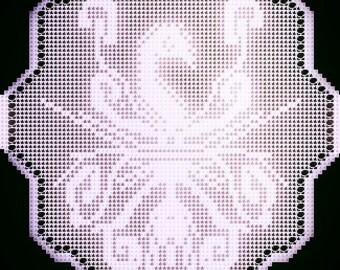 Filet Crochet pattern 'Phoenix', pdf, Instant Download.