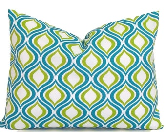 TEAL PILLOW Sale.12x16 inch.Pillow.Pillow Covers.Decorative Pillows.Housewares.Turquoise.Teal.Green Outdoor Pillow Indoor. Outdoor