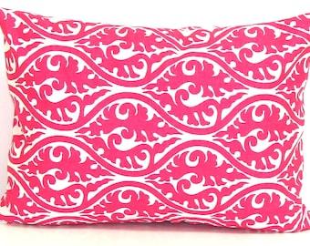 PINK PILLOW SALE.12x16 inch.Pillow Cover.Decorative Pillows.Home Decor.Pink Decor.Housewares.Floral.Rectangular.Damask.Paisley.cm