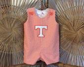 TENNESSEE  JON JON...orange houndstooth with the power T appliqed...be ready for game day or any day!