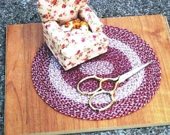 Miniature Braided Rug