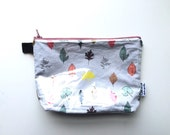 Leaves Divided Flat Bottom Pouch Small (handmade philosophy's pattern)