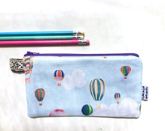 Hot Air Balloons Divided Pencil Case (handmade philosophy's pattern)