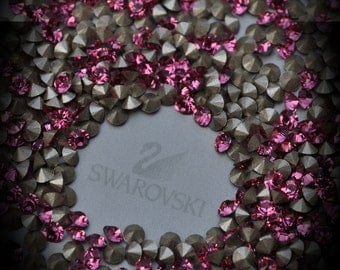 Xilion 1028 20pp Genuine Swarovski Crystals Rose Rounds Foiled Rhinestones 144pcs 1 Gross