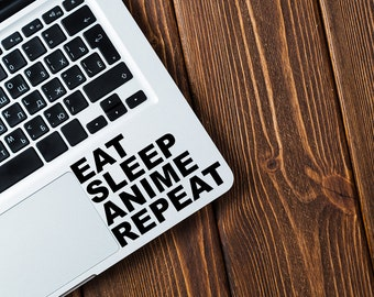 EAT SLEEP ANIME Vinyl Decal Sticker