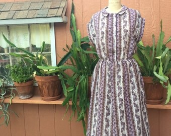 Vintage Flowered Dress