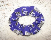Colorado Rockies Baseball Purple fabric Hair Scrunchie, team sport, women's accessories, womans scrunchies, gifts for her, sport accessory