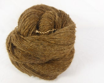 Rose grey suri alpaca 2 ply - Hand spun alpaca yarn. 2 ply. Hand spun 4 ply - sock weight