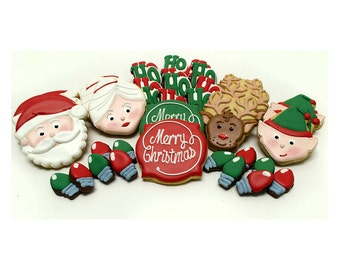Decorated Butter Cookies - Christmas Cookie Platter
